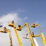 Hydraulic Platforms In A Row