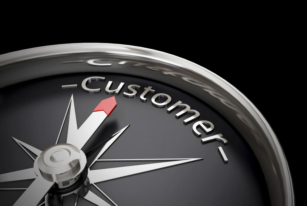 Compass direction customer